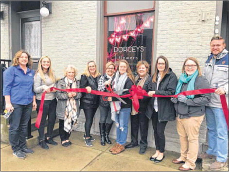 The Champaign County Chamber of Commerce held a ribbon-cutting Feb. 6 for Dorceys Flowers, 121 Scioto St.