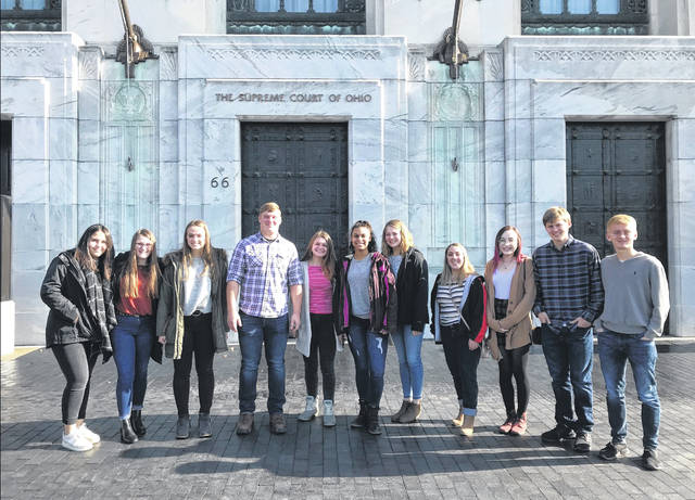 West Liberty-Salem High School's Mock Trial Team recently visited the Ohio Supreme Court and the Thomas J. Moyer Judicial Center in Columbus.